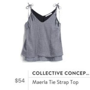 Collective Concepts | NWT Gingham Maerla Tie Top L